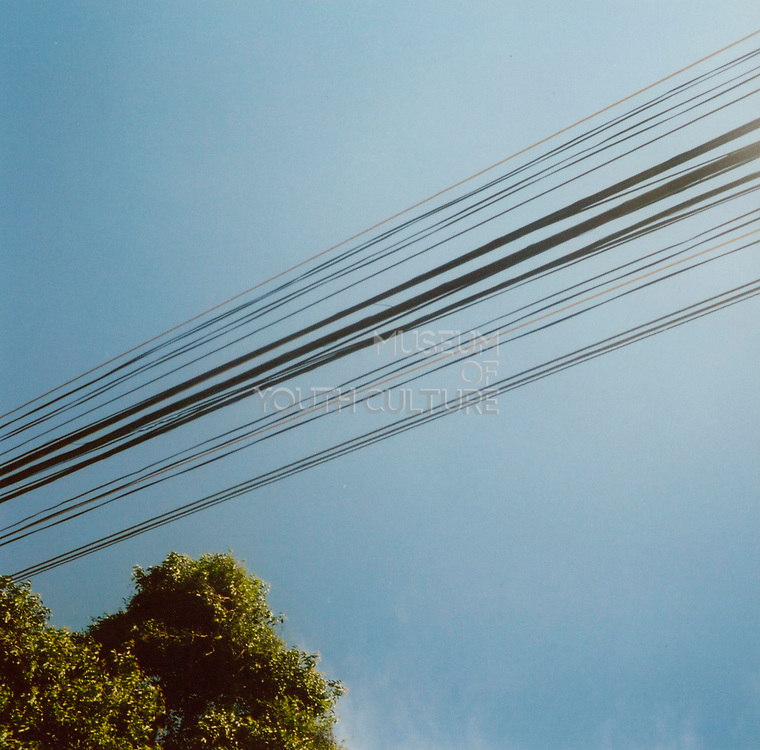 Cables against a blue sky, Brazil, 1990's