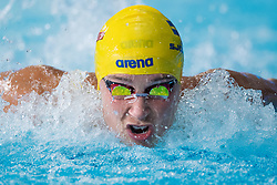 August 3, 2018 - Glasgow, UNITED KINGDOM - SARAH SJOSTROM of Sweden competes in the semi-final of women's 100-meter butterfly swimming during the European Championships in Glasgow. (Credit Image: © Joel Marklund/Bildbyran via ZUMA Press)