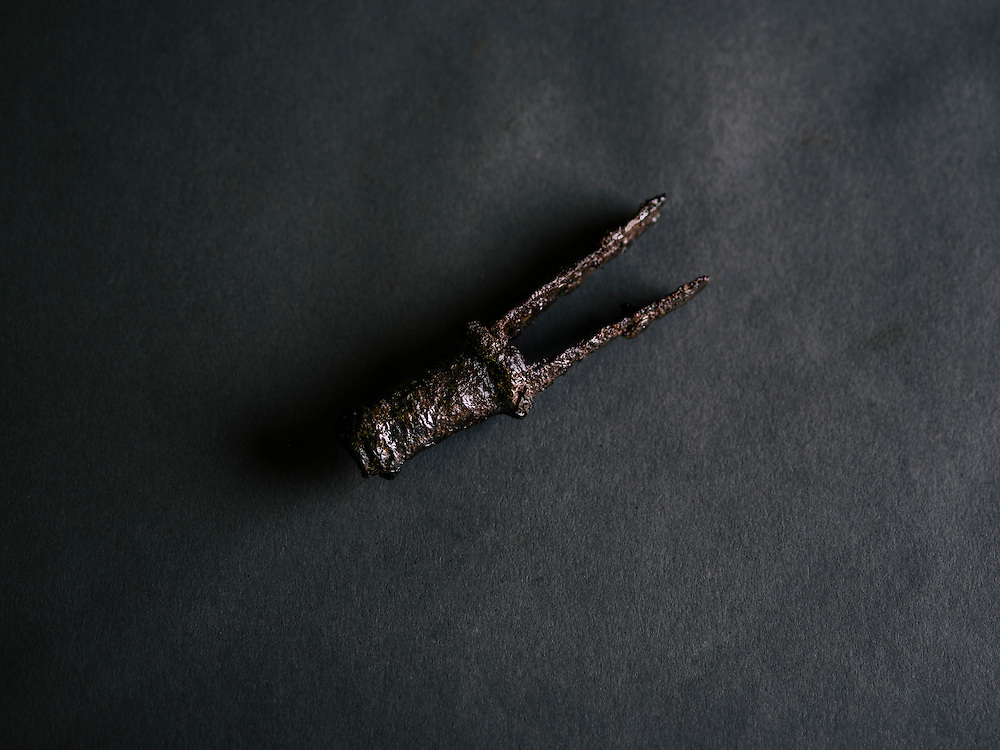 "A piece of Gabriel Archer's captain staff which was buried with the settler at what explorer John Smith called the ""golden church,"" the first Protestant church in the Americas."
