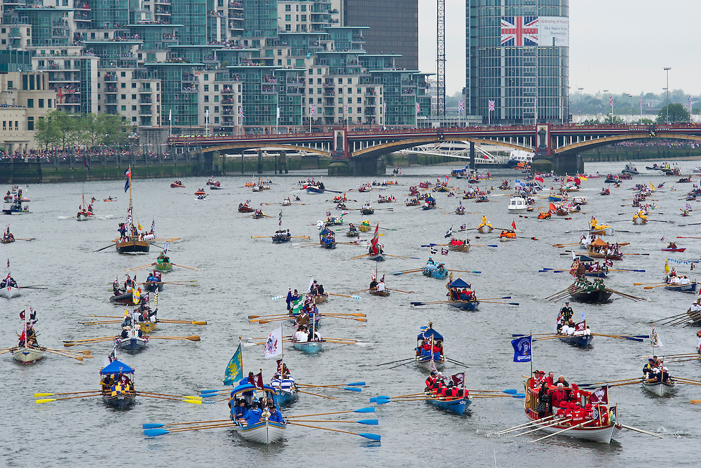 The Flotilla on the river Thames for the Queen's Jubilee celebrations. © Guy Bell Photography, GBPhotos