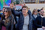 Roma 12 Dicembre 2015<br /> &laquo;La marcia dei diritti&raquo;, per rompere il silenzio su i diritti di almeno tre milioni di cittadine e cittadini lesbiche, gay, bisessuali, trans, intersessuali, per i diritti delle donne e le unioni etero e omosessuali. Diritti che le leggi dell' Italia continuano a ignorare e a calpestare nonostante le sentenze delle corti italiane e internazionali. Nella foto: Imma Battaglia, una dei leader del movimento LGBT in Italia.<br /> Rome December 12, 2015<br /> &quot;March of the rights&quot;, to break the silence on the rights of at least three million citizens from lesbian, gay, bisexual, trans, intersex, for the rights of women and heterosexual and homosexual unions. Rights that the laws of Italy continue to ignore and trample despite the judgments of the Italian  and international courts. Pictured: Imma Battaglia, one of the leaders of the LGBT movement in Italy.
