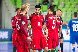 Marcio Moreira of Portugal during futsal match between Portugal and Azerbaijan in Quaterfinals of UEFA Futsal EURO 2018, on February 6, 2018 in Arena Stozice, Ljubljana, Slovenia. Photo by Ziga Zupan / Sportida