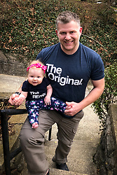 Gemma Marie at 6 months old with the Original, Sunday, Feb. 25, 2018  at Cedar Shake Shack in LOUISVILLE.