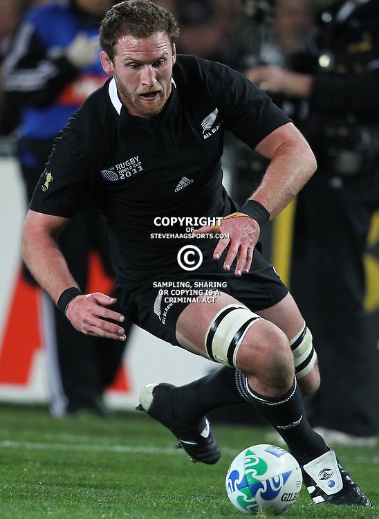 AUCKLAND, NEW ZEALAND - OCTOBER 16, Kieran Read during the 2011 IRB Rugby World Cup Semi Final match between New Zealand and Australia at Eden Park on October 16, 2011 in Auckland, New Zealand<br /> Photo by Steve Haag / Gallo Images