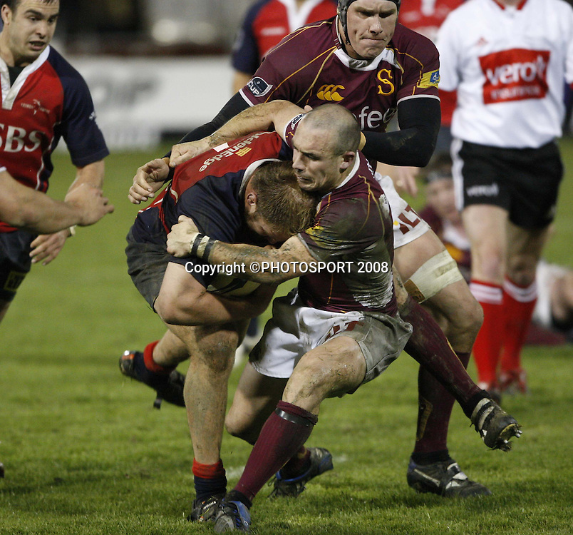 Ben Franks in action for Tasman. Tasman v Southland. Air New Zealand Cup rugby match. Lansdowne Park, Blenheim. Friday 19 September 2008. Photo: PHOTOSPORT