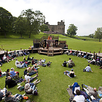 A Satire of the Three Estates<br /> The first ever full-length production of The Three Estates on the Peel at Linlithgow.<br />  Sir David Lyndsay's epic play of Scottish politics, power and reform in the historic setting of Linlithgow Palace 7th- 9th June 2013.<br /> <br /> 'Staging the Scottish Court' is a two year, interdisciplinary research project which will stage Sir David Lyndsay's A Satire of the Three Estates as part of a wider investigation of the Scottish Renaissance and Stewart court and modern images of national identity and the Scottish past.<br /> Directed by Greg Thomson and starring a host of Scottish actors including Scott Hoatson, Alison Peebles and Gerry Mulgrew,it is the first time A Satire of the Three Estate will be performed in its entirety since 1554. <br /> Written shortly before the Reformation, the play addresses the state of the nation following the death of James V. The story follows a young king who is influenced by unsavory characters and is led on a path of immorality. The king calls a parliament of the three estates (Spirituality, Temporality and the Merchants) to reform social problems voiced by John The Commonweal and a Poor. <br /> <br /> The project, led by Professor Greg Walker and Dr Eleanor Rycroft of the University of Edinburgh, and Professor Thomas Betteridge of Brunel University, brings together academics from across the U.K with archaeologists and historical interpetors from Historic Scotland and professional theatre and film-makers.<br /> <br /> Picture Drew Farrell <br /> Tel :  07721-735041