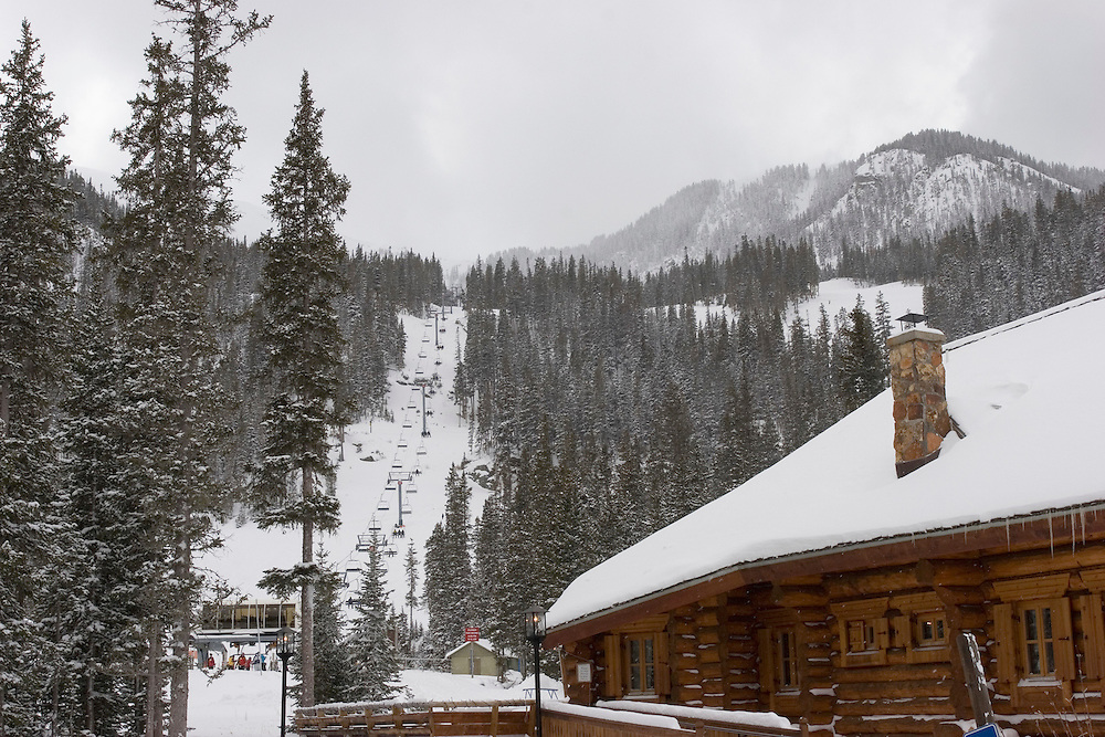Lodge and chairlift at Taos Ski Valley