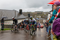 Leading group with Julien Bernard (FRA) of Trek - Segafredo (USA,WT,Trek) at Saint-Roch, Houffailize during the 2019 Liège-Bastogne-Liège (1.UWT) with 256 km racing from Liège to Liège, Belgium. 28th April 2019. Picture: Pim Nijland | Peloton Photos<br /> <br /> All photos usage must carry mandatory copyright credit (Peloton Photos | Pim Nijland)