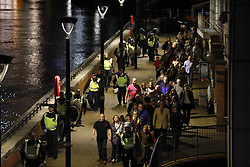 June 4, 2017 - London, London, UK - London, UK. People are being evacuated after reports of a terrorist incident involving a vehicle and pedestrians in London Bridge.  Reports are saying a white transit van may have deliberately run down people crossing the bridge. (Credit Image: © Tolga Akmen/London News Pictures via ZUMA Wire)
