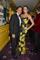 ARUN & KIM NAYAR at a dinner to celebrate the 125th anniversary of the Dog's Trust held at Annabel's, Berkeley Square, London on 1st November 2016.