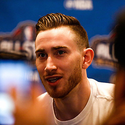 Feb 17, 2017; New Orleans, LA, USA; Western Conference All Star Gordon Hayward during the All Star media availability at the Ritz Carlton. Mandatory Credit: Derick E. Hingle-USA TODAY Sports