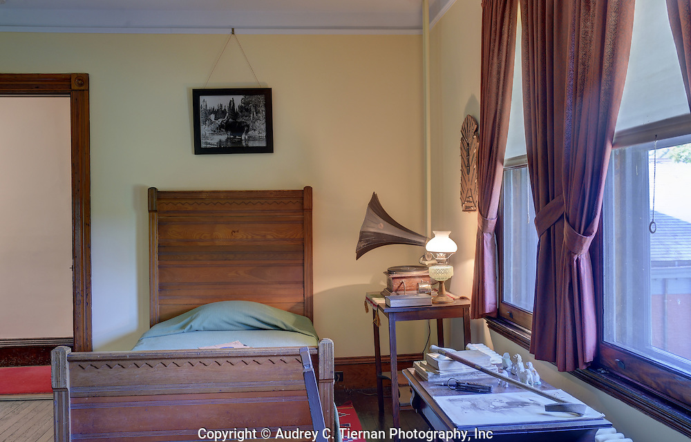 Oyster Bay, NY,  September 14, 2015: ---   Sagamore Hill was the home of the 26th president of the United States, Theodore Roosevelt. The home recently underwent a ten million dollar renovation.  This is the boys' room.  © Audrey C. Tiernan