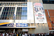 Montreal - 08APR19 - Fans line up for UFC 83 at Montreal's Bell Center. GAZETTE PHOTO BY TIM SNOW