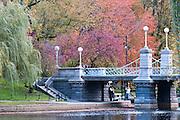 USA, Massachusetts, Boston. Boston Public Garden footbridge