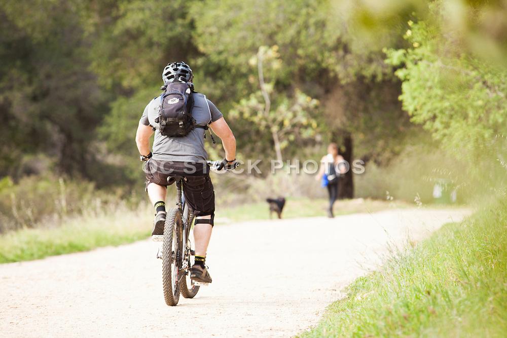 Bike Riding on Trail at Claremont Hills Wilderness Park