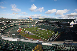 Nov 6, 2011; Oakland, CA, USA; General view of O.co Coliseum  before the game between the Oakland Raiders and the Denver Broncos. Denver defeated Oakland 38-24. Mandatory Credit: Jason O. Watson-US PRESSWIRE