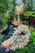 The M&G Garden - The Retreat. RHS Chelsea Flower Show, Chelsea Hospital, London UK, 18 May 2015.