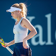 August 22, 2016, New Haven, Connecticut: <br /> Caroline Wozniacki in action during a match a match on Day 4 of the 2016 Connecticut Open at the Yale University Tennis Center on Monday August  22, 2016 in New Haven, Connecticut. <br /> (Photo by Billie Weiss/Connecticut Open)