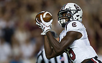 South Carolina wide receiver Shi Smith (13) catches a pass before running into the end zone for a touch down during the first quarter of an NCAA college football game against Texas A&M Saturday, Sept. 30, 2017, in College Station, Texas. (AP Photo/Sam Craft)