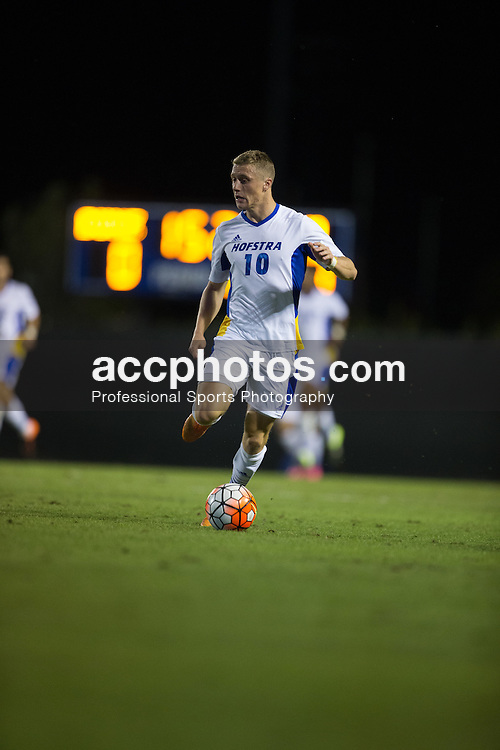 2015 October 05: Joseph Holland #10 of the Hofstra Pride during a 3-2 overtime loss to the Duke Blue Devils at Koskinen Stadium in Durham, NC.