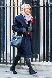 London, January 16 2018. Secretary of State for Work and Pensions Esther McVey attends the UK cabinet meeting at Downing Street. © Paul Davey