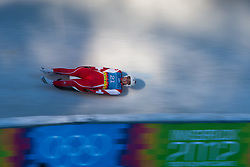 """15.01.2012, Bobbahn Igls, Innsbruck, AUT, Olympische Jugend Winterspiele, Rodeln, Herren, im Bild Christian Maag (SUI) // Christian Maag (SUI) during the Mens Luge of the Winter Youth Olympic Games at the """"Bob Track Igls"""", Innsbruck, Austria on 2012/01/15, EXPA Pictures © 2012, PhotoCredit: EXPA/ Juergen Feichter"""