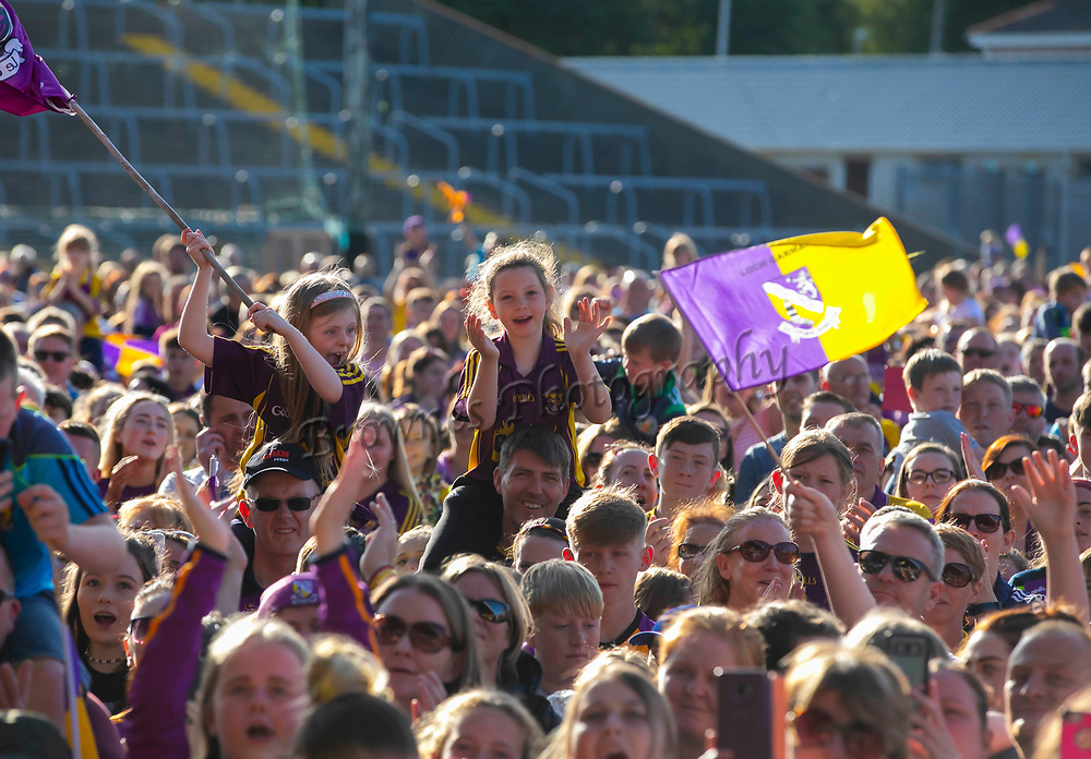 01/07/2019. Wexford GAA Homecoming at Innovate Wexford Park where the Senior Leinster Hurling and Minor Champions and the Ladies Football winners arrived to a large crowd. Picture: Patrick Browne