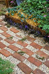 Brick and gravel path
