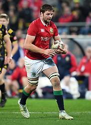 """Iain Henderson of the Lions against the Hurricanes in the International rugby match between the the Super Rugby Hurricanes and British and Irish Lions at Westpac Stadium, Wellington, New Zealand, Tuesday, June 27, 2017. Credit:SNPA / Ross Setford  **NO ARCHIVING"""""""