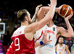 Semih Erden of Turkey vs Pau Gasol of Spain during basketball match between National Teams of Spain and Turkey at Day 11 in Round of 16 of the FIBA EuroBasket 2017 at Sinan Erdem Dome in Istanbul, Turkey on September 10, 2017. Photo by Vid Ponikvar / Sportida