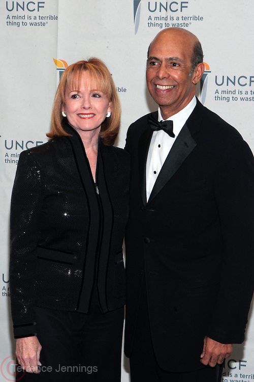 3 March 2011- New York, NY-  l to r:  Dr. Michael Lomax and Dr. Piggy Conlon at the UNCF ' A Mind is'  Gala held at the Marriott Marquis Hotel on March 3, 2011 in New York City. Photo Credit: Terrence Jennings