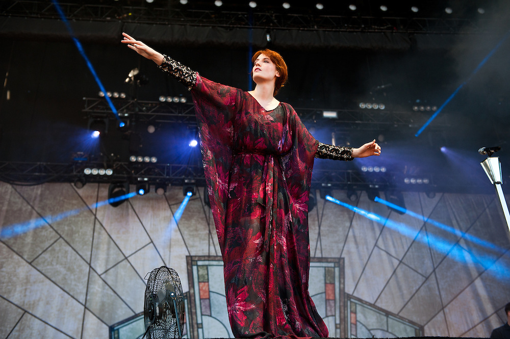 Florence Welch of Florence and the Machine at Lollapalooza