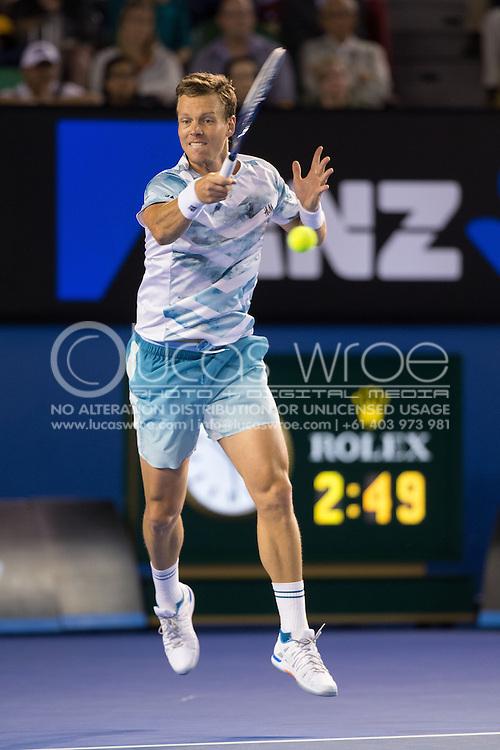 TOMAS BERDYCH (CZE), January 29, 2015 - TENNIS : Australian Open Championship. Melbourne Park, Melbourne, Victoria, Australia. Credit: Lucas Wroe