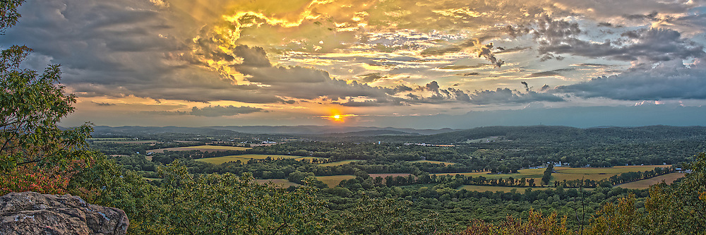 Sunset on top of Point Mountain looking out over the the musconetcong river valley