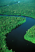 River winding in Tropical Rain Forest in Para, Brazil.