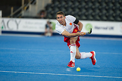 England's David Condon. England v China - Hockey World League Semi Final, Lee Valley Hockey and Tennis Centre, London, United Kingdom on 15 June 2017. Photo: Simon Parker