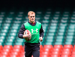 Aled Davies of Wales<br /> <br /> Photographer Simon King/Replay Images<br /> <br /> Six Nations Round 3 - Captains Run - Wales v England - Saturday 22nd February 2019 - Principality Stadium - Cardiff<br /> <br /> World Copyright © Replay Images . All rights reserved. info@replayimages.co.uk - http://replayimages.co.uk