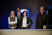 """Dead Letter"" – The NCIS team, alongside the FBI and MI6, continue an international manhunt for an escaped British spy who has left one colleague fighting for their life in ICU, on NCIS, Tuesday, May 10 (8:00-9:00 PM, ET/PT), on the CBS Television Network. Sarah Clarke guest stars as FBI Special Agent Tess Monroe and Duane Henry guest stars as MI6 Officer Clayton Reeves. Pictured: Emily Wickersham as Eleanor Bishop, Michael Weatherly as Tony DiNozzo, Sarah Clarke as Tess Monroe, Mark Harmon as Jethro Gibbs.   Photo: Jace Downs/CBS ©2016 CBS Broadcasting, Inc. All Rights Reserved"