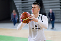 Matic Rebec during practice session of Slovenian National Basketball team before qualification matches for FIBA Basketball World Cup 2019, on February 20, 2017 in Arena Stozice, Ljubljana, Slovenia. Photo by Urban Urbanc / Sportida