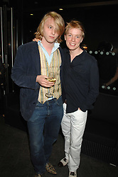 Left to right, HARRY GRENFELL and FREDDIE FOX son of actor Edward Fox at the opening of the new Gaucho restaurant at the O2 Arena, London on 15th May 2008.<br /><br />NON EXCLUSIVE - WORLD RIGHTS