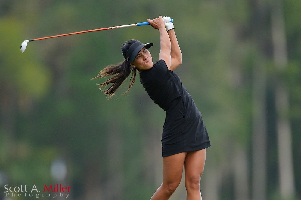 Veronica Felibert during the final round of the Symetra Tour Championship at Alaqua Country Club in Longwood, Florida on Oct. 15, 2016.<br /> <br /> &copy;2016 Scott A. Miller