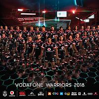 2018 Vodafone warriors team. Photos by Stephen Barker. Design by Leighton Corbett