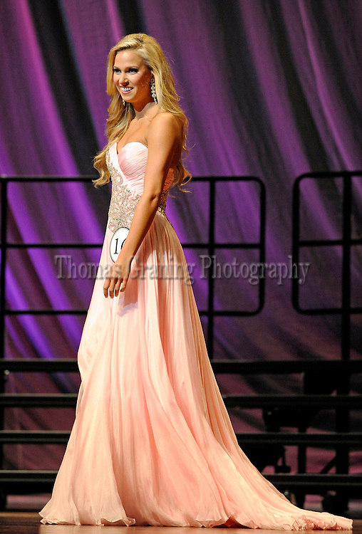Kyndal Hayes participates in the Parade of Beauties pageant at Ole Miss in Oxford, Miss., Wednesday, Jan. 30, 2013. (Photo/Thomas Graning)
