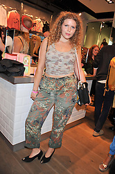 DJ & Designer MARGOT BOWMAN at a party to celebrate the launch of Louise Gray's make-up and clothing collections for Topshop held at Topshop Edited, 286 Regent Street, London on 22nd August 2012.