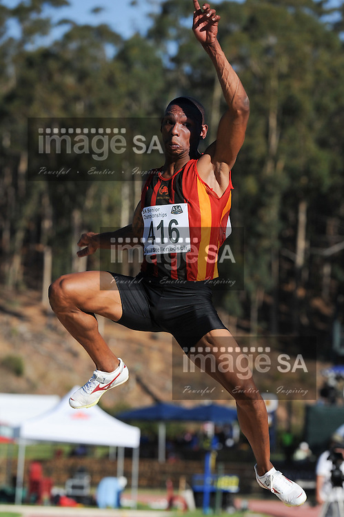 STELLENBOSCH, South Africa - Saturday 13 April 2013, Zarck Visser in the mens long jump during day 2 of the South African Senior Athletics championships at the University of Stellenbosch's Coetzenburg stadium.Photo by Roger Sedres/ ImageSA