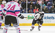 Victoria Royals beat the Vancouver Giants 3-1 at the Save-on-Foods Memorial Centre during Pink in the Rink in Victoria, British Columbia Canada on February 25, 2017