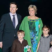 NLD/Rotterdam/20110202 - Boekpresentatie Mr. Finney door pr. Laurentien, partner prins Constantijn met haar kinderen Claus - Casimier, Eloise en Leonore