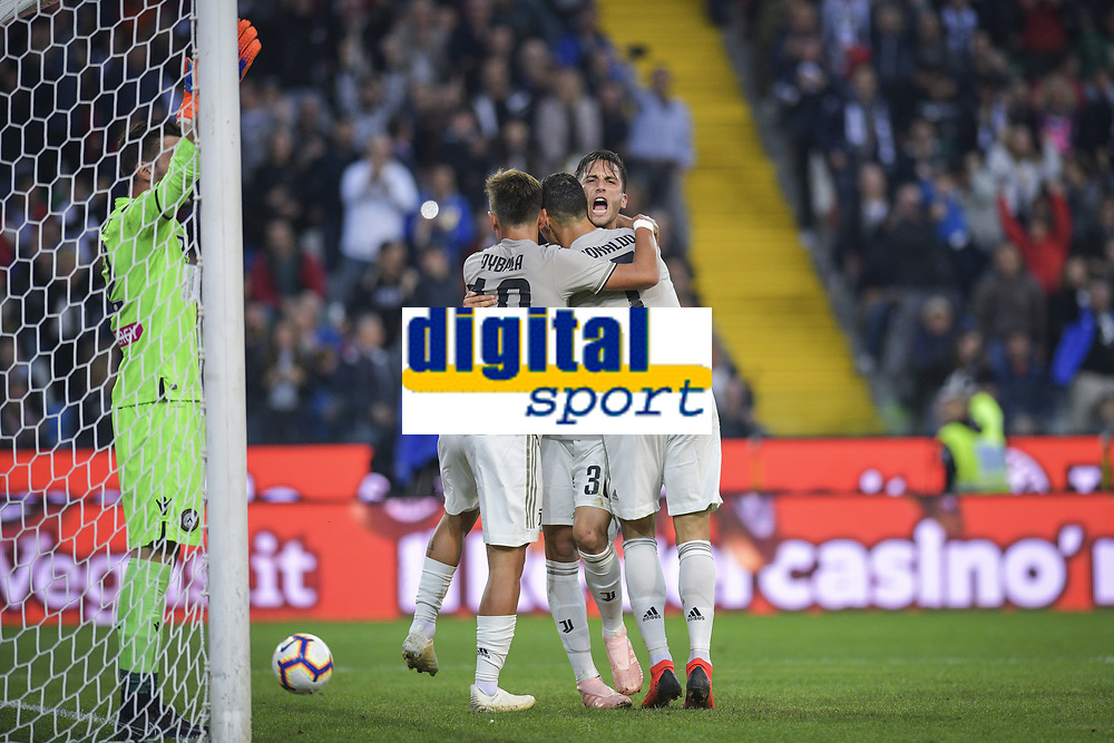Rodrigo Betancourt esultanza gol. Rodrio Betancourt celebrates scoring with teammates <br /> Udine 06-10-2018 Stadio Friuli Football Calcio Serie A 2018/2019 Udinese - Juventus<br /> Foto Federico Tardito / OnePlusNine / Insidefoto