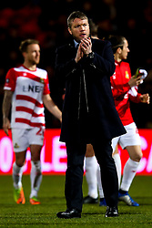 Doncaster Rovers manager Grant McCann and his players applaud the fans after their FA Cup defeat to Crystal Palace - Mandatory by-line: Robbie Stephenson/JMP - 17/02/2019 - FOOTBALL - The Keepmoat Stadium - Doncaster, England - Doncaster Rovers v Crystal Palace - Emirates FA Cup fifth round proper