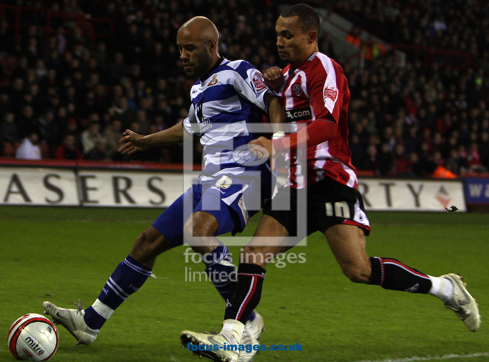 Sheffield - Tuesday January 27th, 2009:  James Chambers of Doncaster Rovers see's the ball out of play for a corner at the expense of Sheffield United's Gareth Taylor during the Coca Cola Championship match at Bramall Lane, Sheffield. (Pic by Darren Walker/Focus Images)